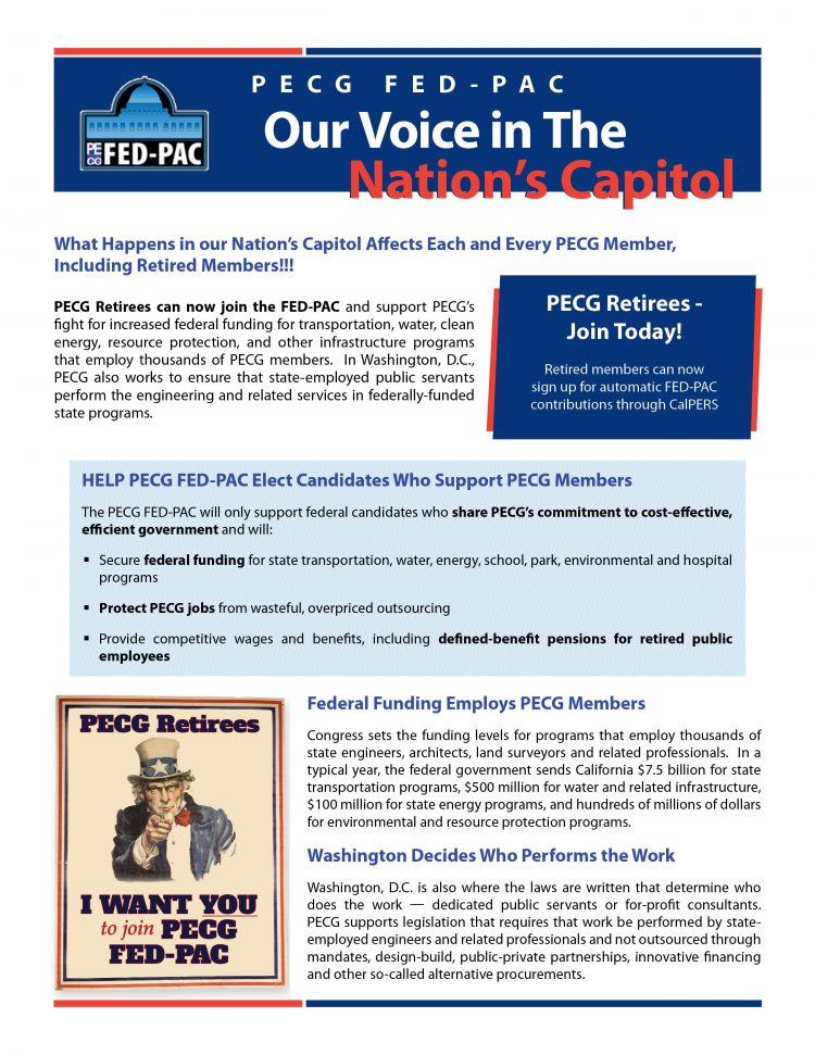 online fed pac flyer for retirees | Professional Engineers